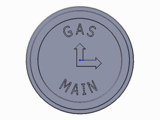Marker Plate Mains Gas