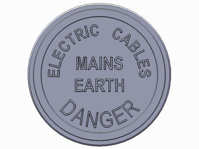Marker Plate Mains Earth
