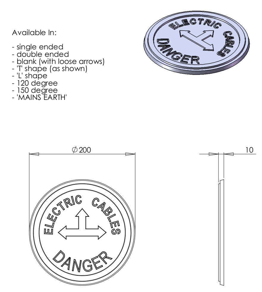 Cable Marker Round Sheet